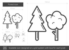 Forest line icon. Stock Images