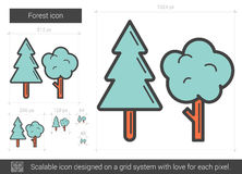Forest line icon. Stock Photography