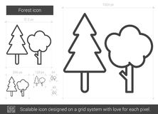 Forest line icon. Royalty Free Stock Images