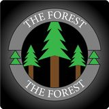 THE FOREST LOGO royalty free stock photography