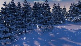 Forest Loop nevado ilustração do vetor