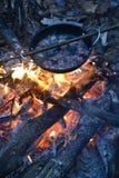 Forest Lunch, el acampar, al aire libre, alza Foto de archivo libre de regalías