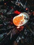 Forest Lunch, tortilla, el acampar, al aire libre Fotografía de archivo