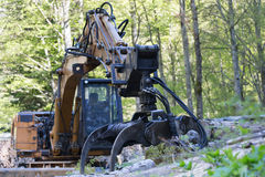 forest machine Stock Photography
