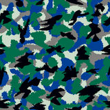 Forest mixed war camouflage seamless pattern Royalty Free Stock Photography