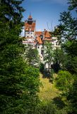 Forest monastery. Bran, the famous Vampire Castle of Dracula Stock Photo