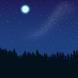 Forest Moon Image libre de droits