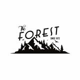 Forest, Mountain Adventure Black And White Badge Template Vector Logo Stock Photography