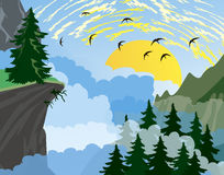 Forest Mountain Background Royalty Free Stock Image
