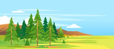 Forest Mountain Landscape Background impeccable Illustration Stock