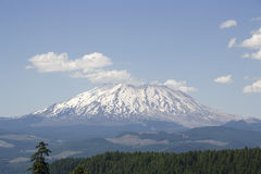 Forest mountain St. Helens volcano stock photo