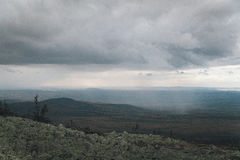 Forest mountains. In Russia, Taganai royalty free stock photos