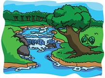 Forest and nature illustration Stock Photo