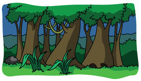 Forest and nature illustration Stock Images