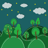 Forest At Night seamless Royalty Free Stock Image