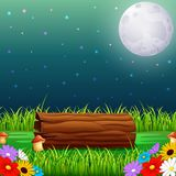 Forest at night and wood with fullmoon Royalty Free Stock Photos