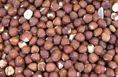 Forest nuts. In a romanian traditional cuisine market Stock Photography