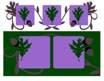 Forest Oak on Violet vector illustration