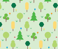 Forest ornament pattern Royalty Free Stock Photos