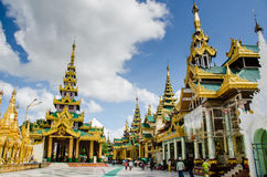 Forest of pagodas and temples at Shwedagon Pagoda Royalty Free Stock Photo
