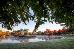 Forest Park bandstand in St. Louis, Missouri. The bandstand located in Forest Park, St. Louis, Missouri stock photography