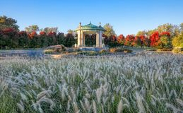 Forest Park bandstand in St. Louis, Missouri. The bandstand located in Forest Park, St. Louis, Missouri stock photo