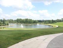 Forest Park St. Louis del centro immagini stock