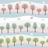 Forest pattern. Seamless background of a colorful forest Stock Image