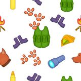Forest pattern, cartoon style. Forest pattern. Cartoon illustration of forest vector pattern for web Stock Photography