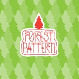 Forest pattern Royalty Free Stock Images