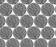 Forest pattern. Seamless graphic pattern of forest a white background Stock Photography