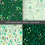 Forest pattern set Royalty Free Stock Images