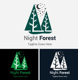 Forest Pine Tree Logo Royalty Free Stock Image