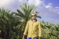 Forest Pose modelo indio Fotografía de archivo