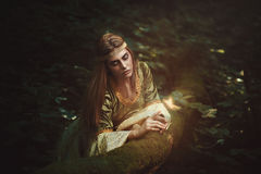 Forest princess friend of the fairies royalty free stock photo