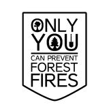 Forest Protection Bear Day. Forest Protection Day Sticker with tree. Ecology and nature protection poster. Only you can prevent forest fires. Vector Stock Images