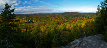 Forest in quebec. Panoramic view of the laurentides in quebec during autumn Stock Images