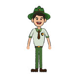 Forest ranger icon stock illustration