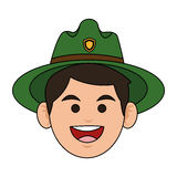 Forest ranger icon Stock Photo