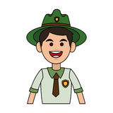 Forest ranger icon Stock Photography