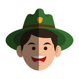 Forest ranger icon Royalty Free Stock Image