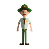 Forest ranger icon Stock Image