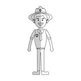 Forest ranger icon Royalty Free Stock Photography