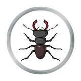 Forest red ant icon in cartoon style  on white background. Insects symbol stock vector illustration. Royalty Free Stock Images