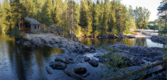 Forest river, Karelia, Russia Royalty Free Stock Photo