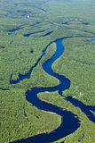 Forest river, top view Stock Photography