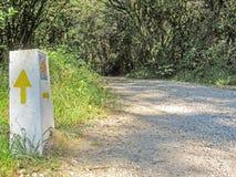 Roar in Asturias, Camino del Norte route, Northern coast of Green Spain royalty free stock image