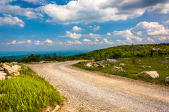 Forest Road 75 at Bear Rocks Preserve, in Dolly Sods Wilderness,. Monongahela National Forest, West Virginia Royalty Free Stock Photo