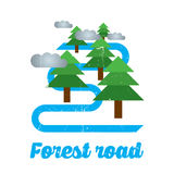 Forest Road Design Poster Immagini Stock