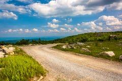 Forest Road 75 en el coto de las rocas del oso, en Dolly Sods Wilderness, Foto de archivo libre de regalías
